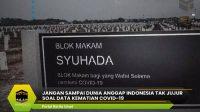 Jangan Sampai dunia Anggap Indonesia Tak Jujur Soal Data Kematian COVID-19